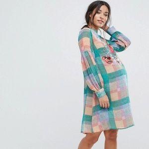 ASOS Plaid Maternity Dress